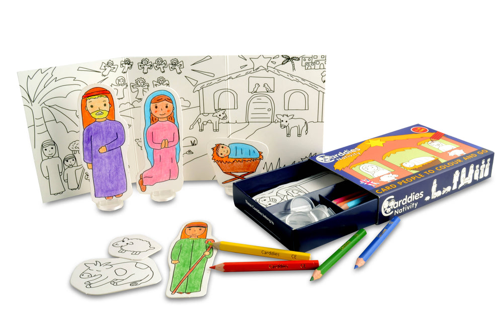 CARDDIES NATIVITY Colour and Play Set