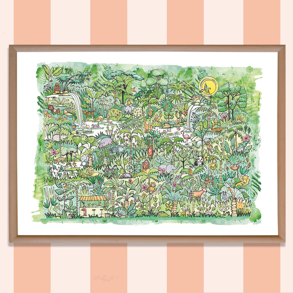'WILD ANIMAL KINGDOMS PRINT'