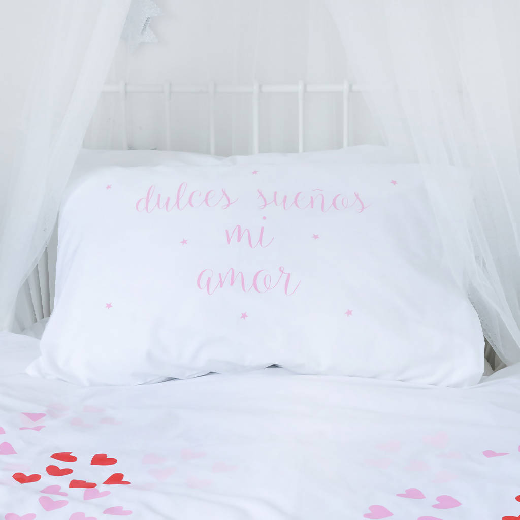 DULCES SUENOS MI AMOR Pillow Case