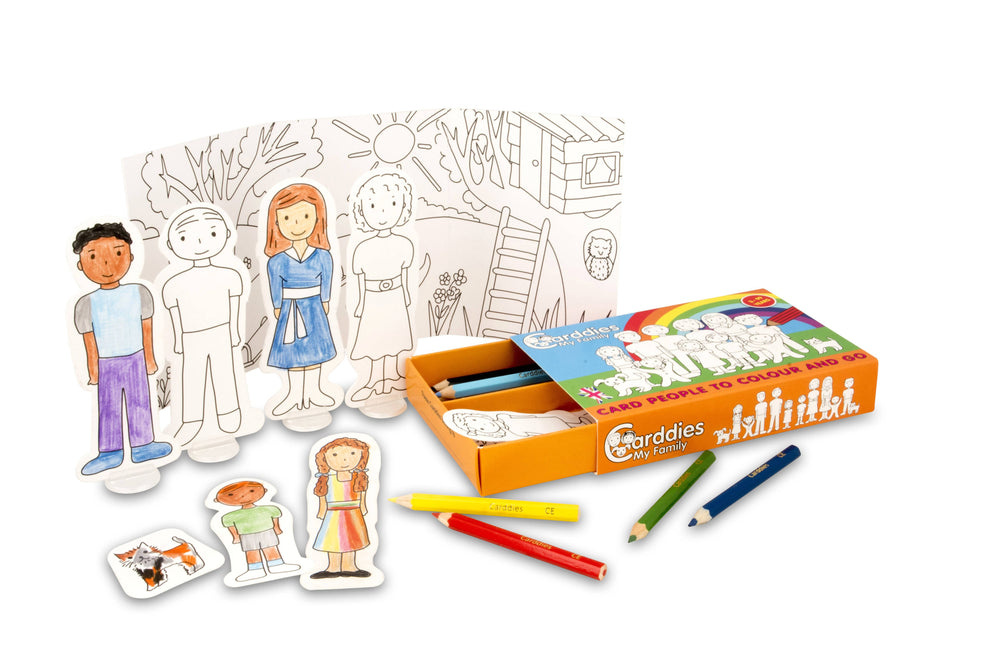 CARDDIES MY FAMILY Colour and Play Set