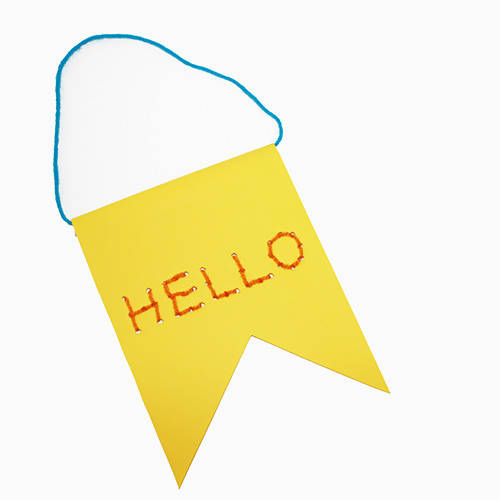 Hello Banner Children's Craft Kit