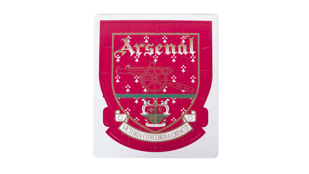 Arsenal crest colour-in jigsaw puzzle