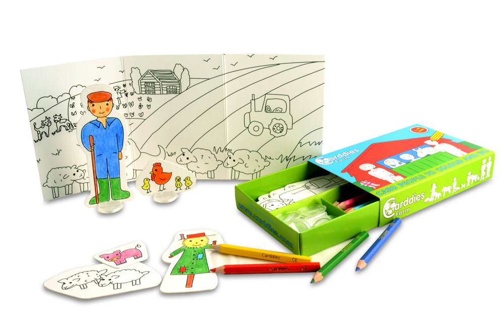 CARDDIES FARM Colour and Play Set