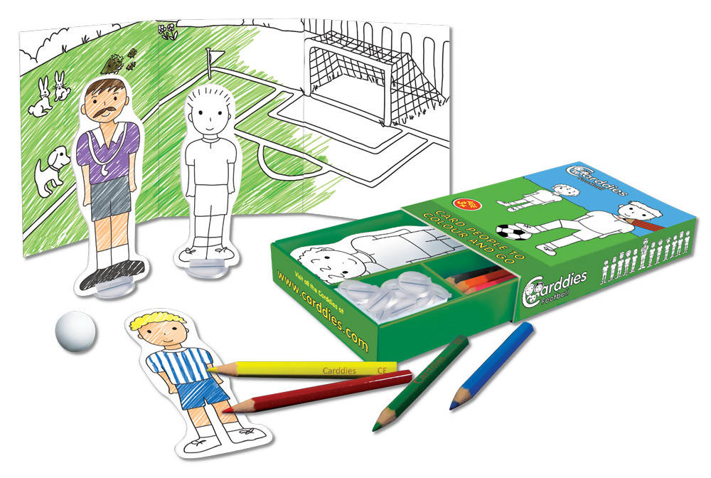 CARDDIES FOOTBALL Colour and Play Set