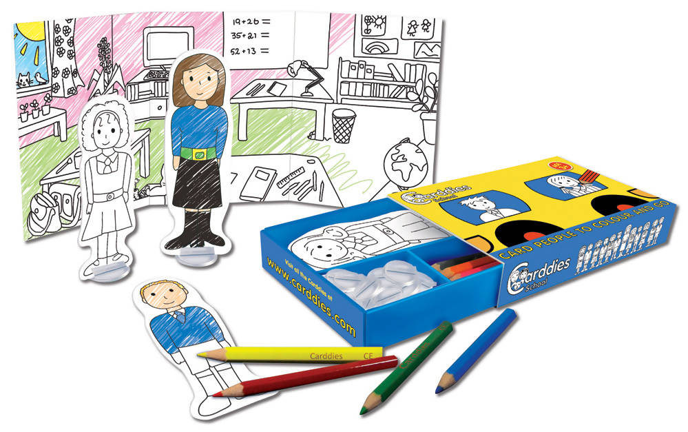 CARDDIES SCHOOL Colour and Play Set