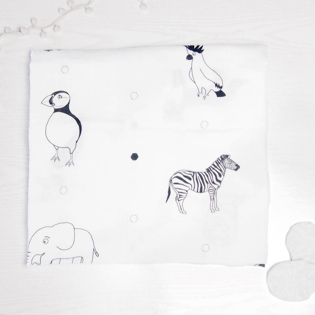 Extra large 100% organic cotton baby muslin