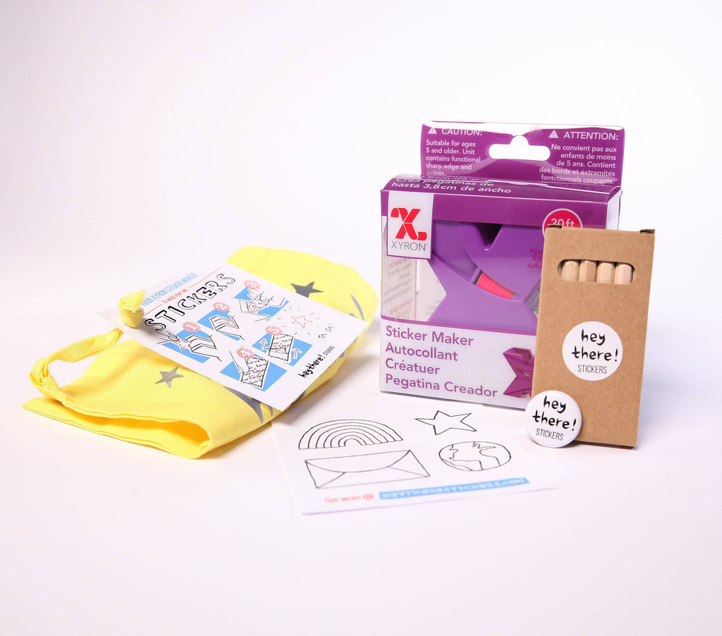 Yellow Sticker Maker Kit