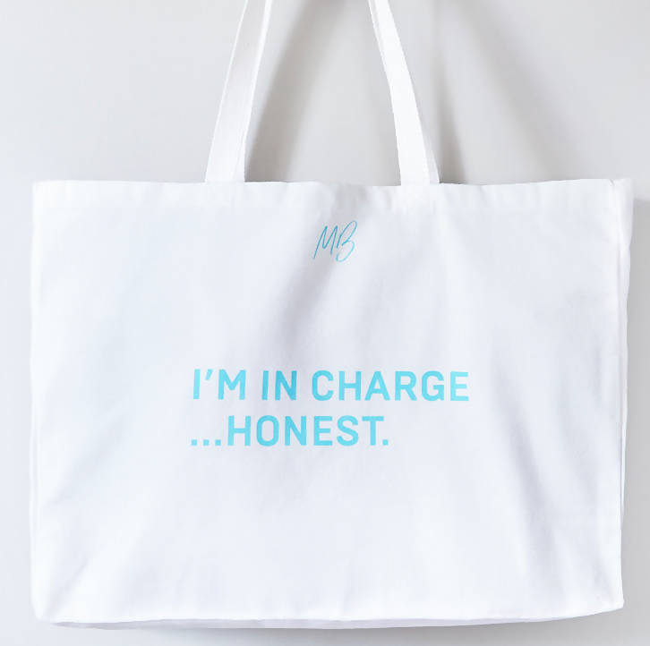 'I'M IN CHARGE' organic cotton bag