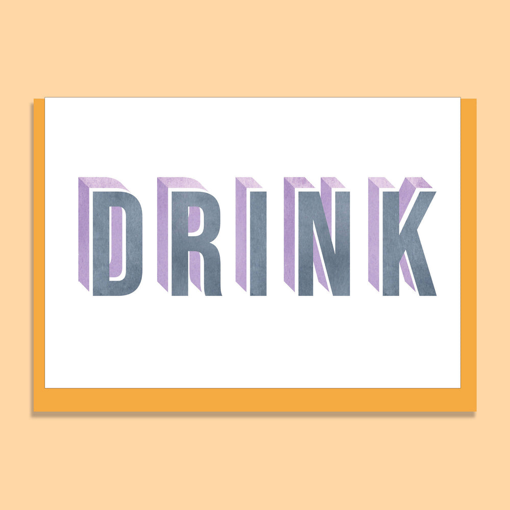 'DRINK' GREETINGS CARD