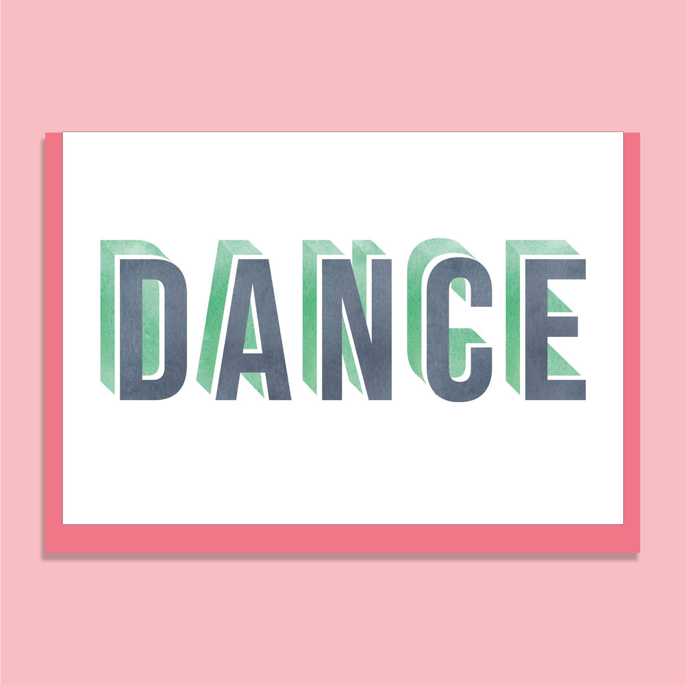 'DANCE' GREETINGS CARD