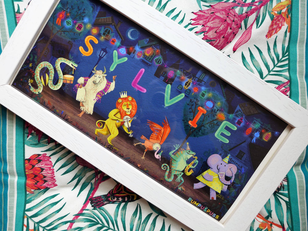 Personalised Animal Carnival Prints
