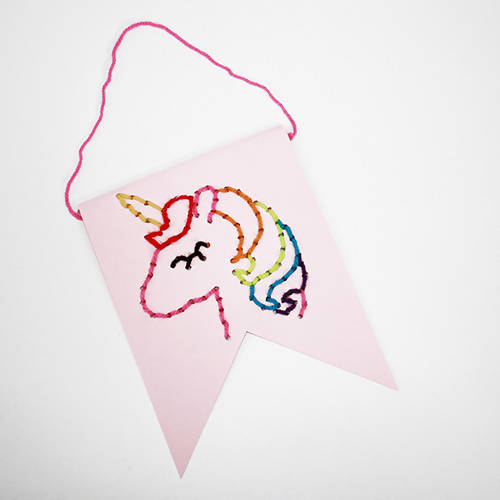 Unicorn Banner Children's Craft Kit