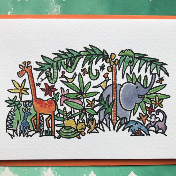 'JUNGLE' CARD