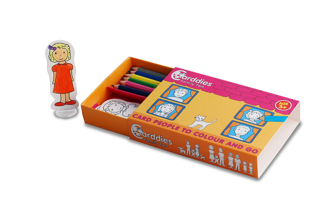 CARDDIES FAMILY TWO Colour and Play Set