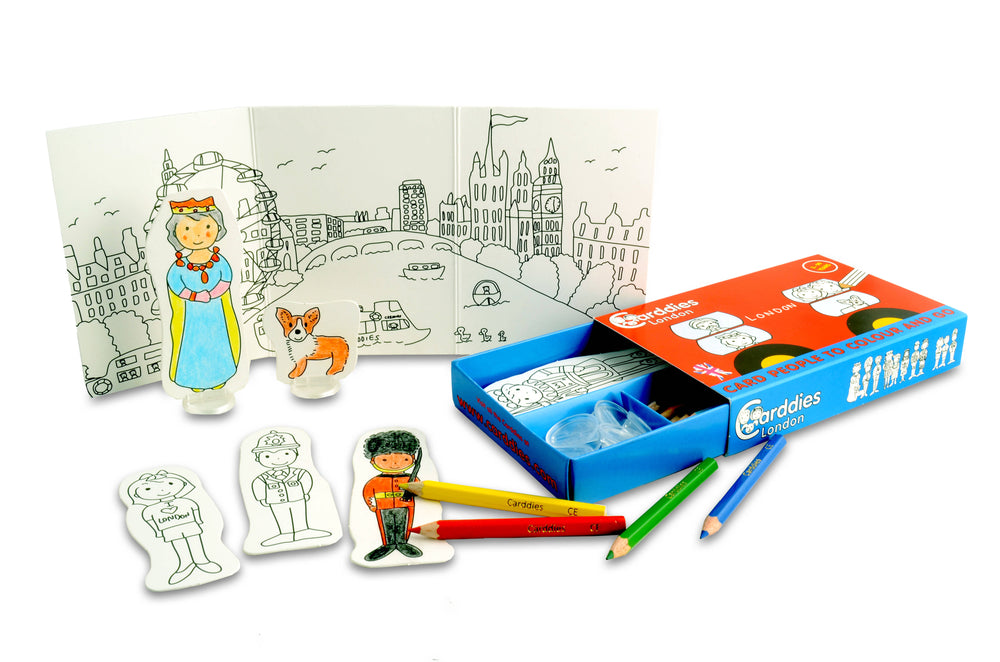 CARDDIES LONDON Colour and Play Set