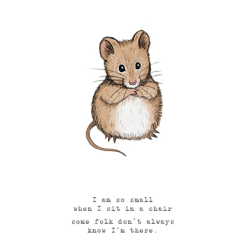 Happy Mouse - A3 print