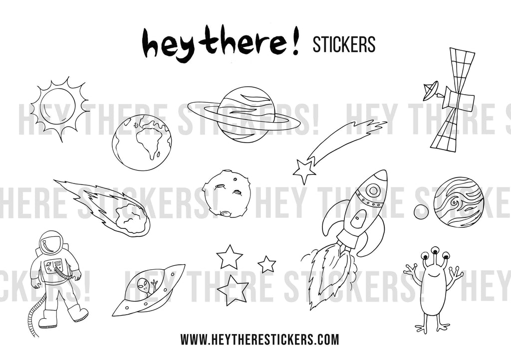 Space Colouring Download