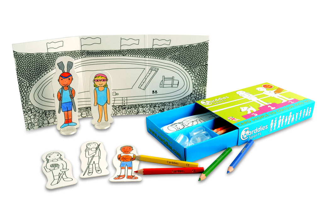 CARDDIES SPORTS Colour and Play Set