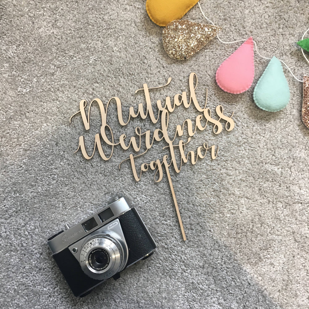 Multi-word cake topper