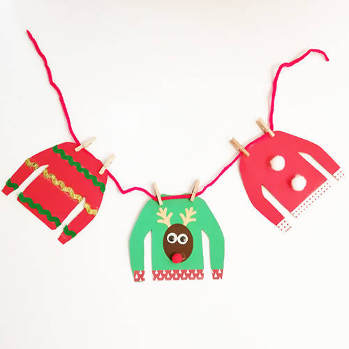 Christmas Jumper Garland Christmas Craft Kit