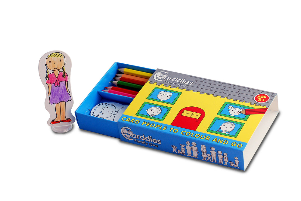 CARDDIES FAMILY ONE Colour and Play Set