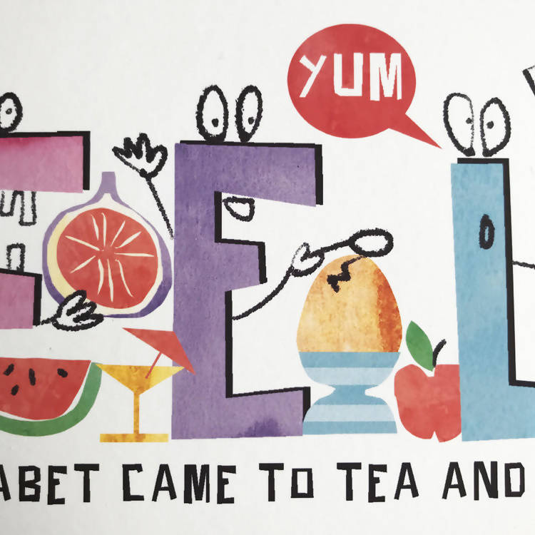 PERSONALISED NAME PRINT: 'THE ALPHABET CAME TO TEA'