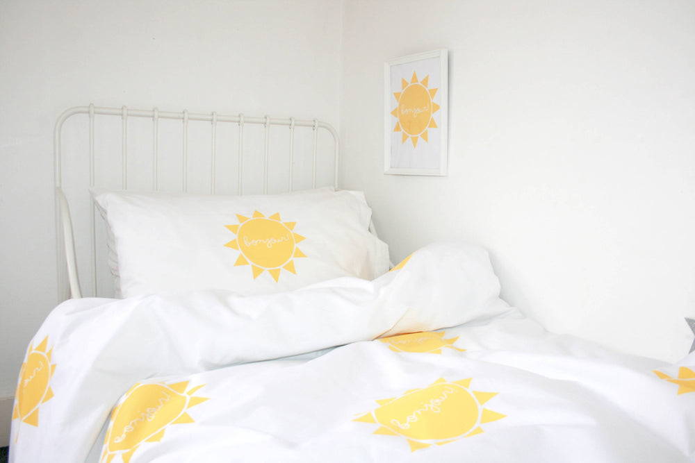 BONJOUR SUNSHINE (Yellow) Duvet Set