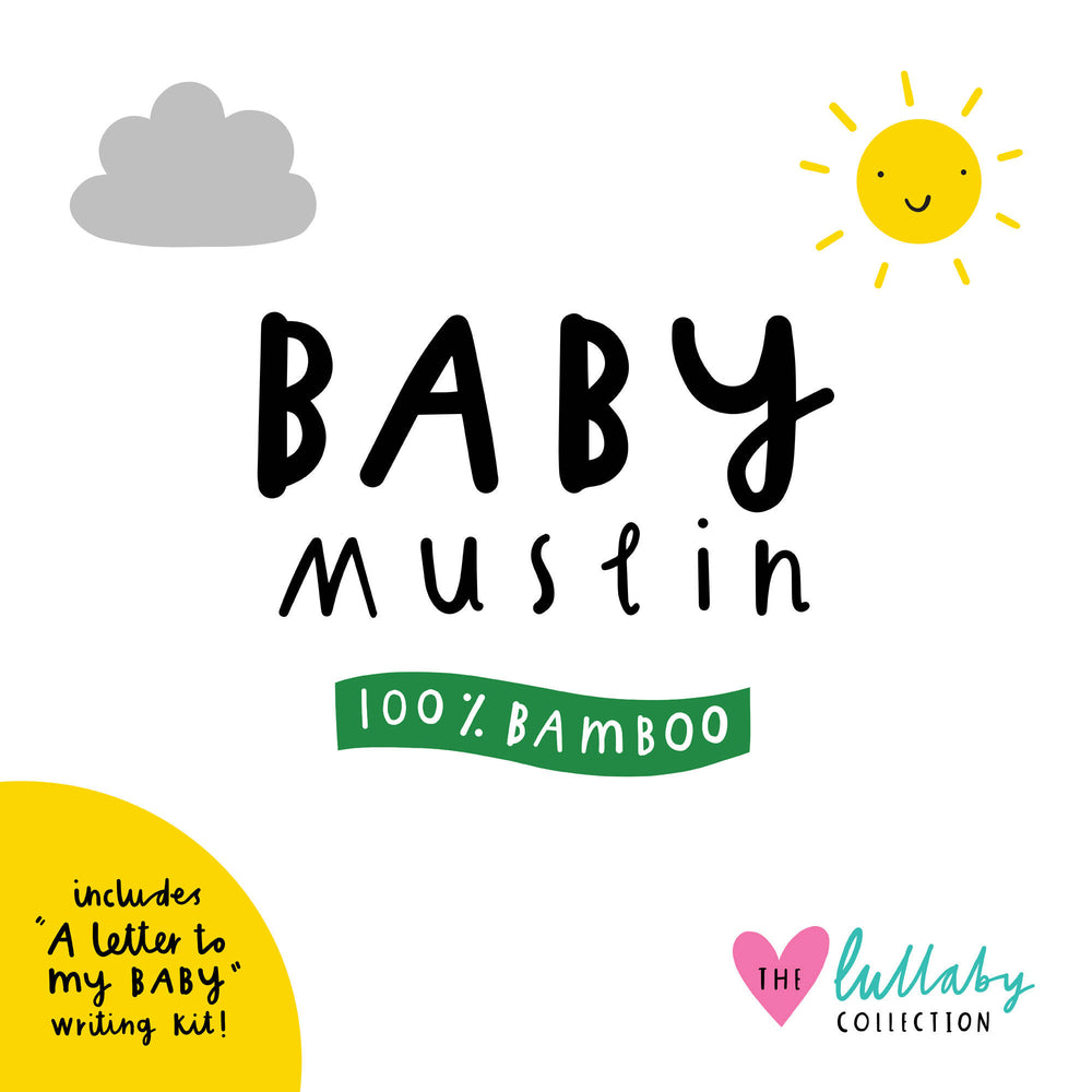 You Are My Sunshine Baby Muslin - 100% bamboo, 60 x 60cm square
