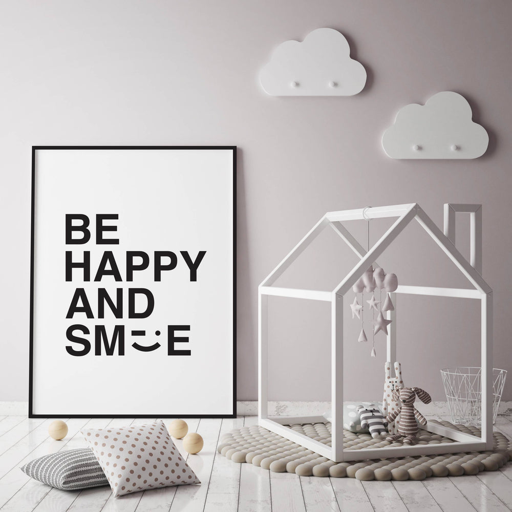 A4 Be Happy And Smile Print
