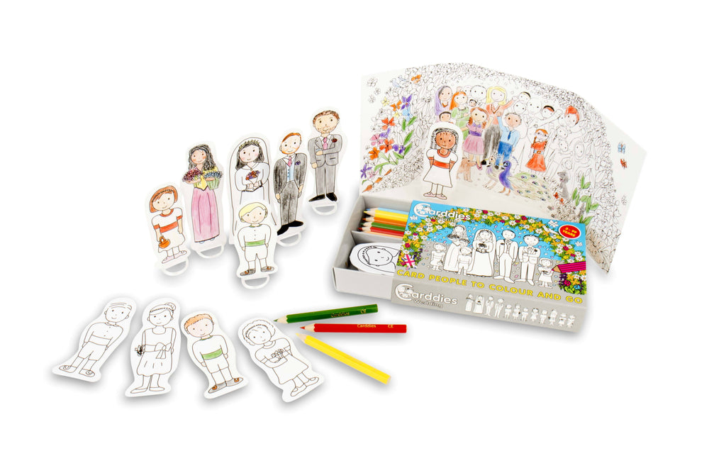 CARDDIES WEDDING Colour and Play Set