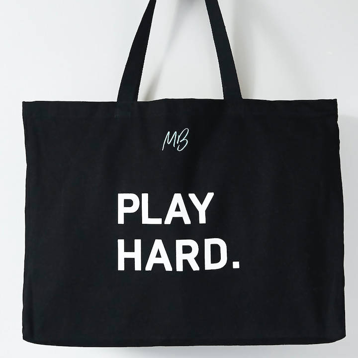 'PLAY HARD' organic cotton bag