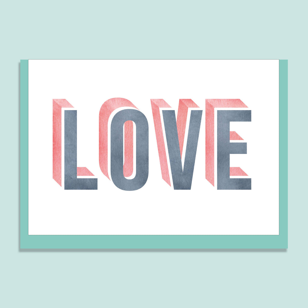 'LOVE' GREETINGS CARD