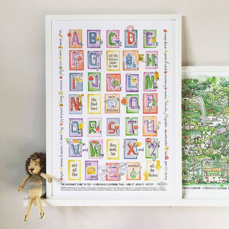 THE 'ALPHABET CAME TO TEA' POSTER