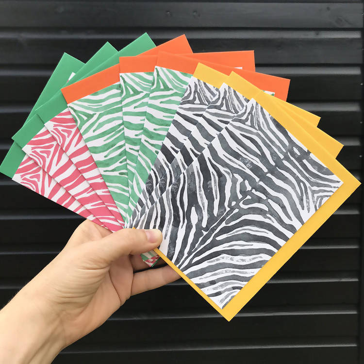 'STORMCLOUD ZEBRA' Card