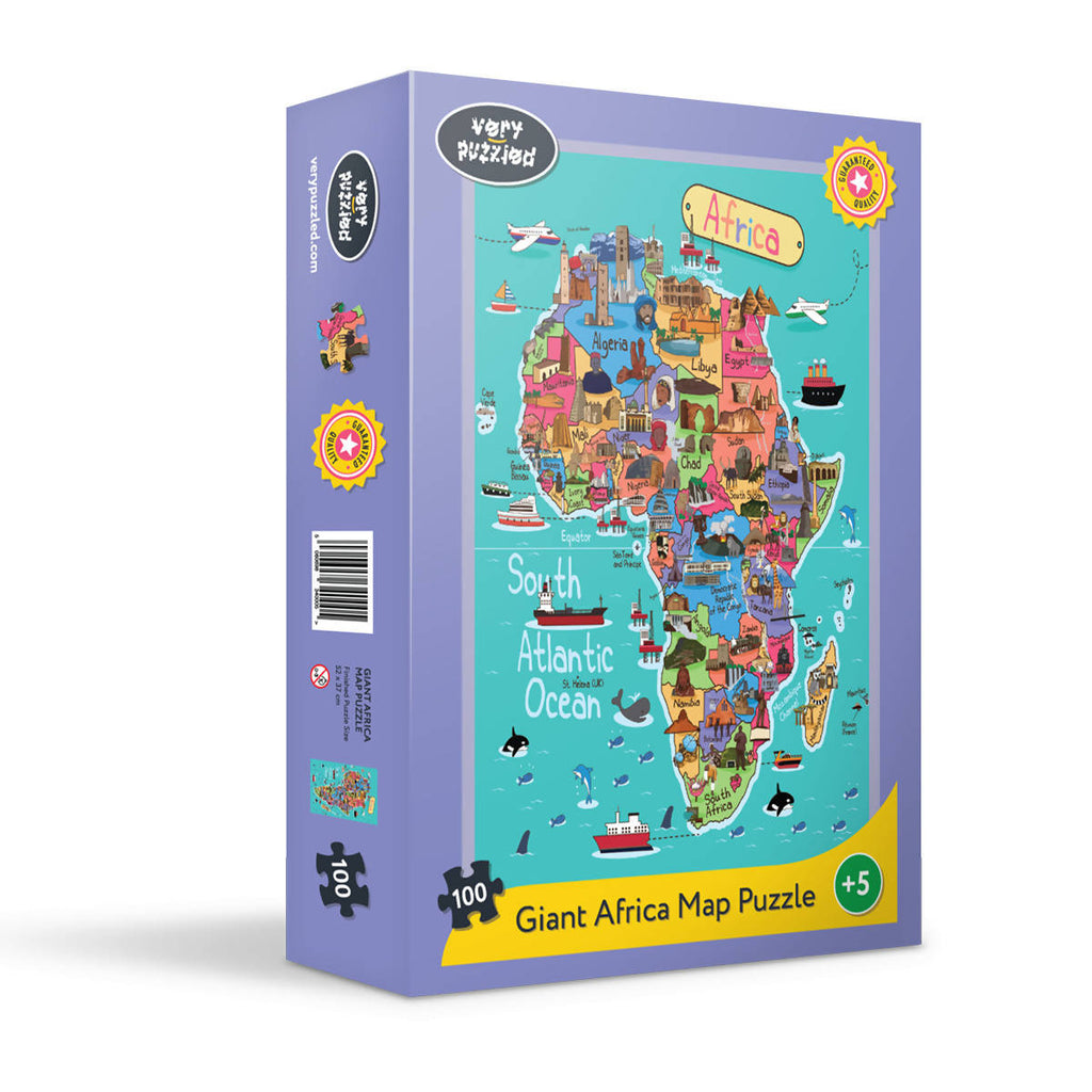 Africa (100 piece) map jigsaw puzzle