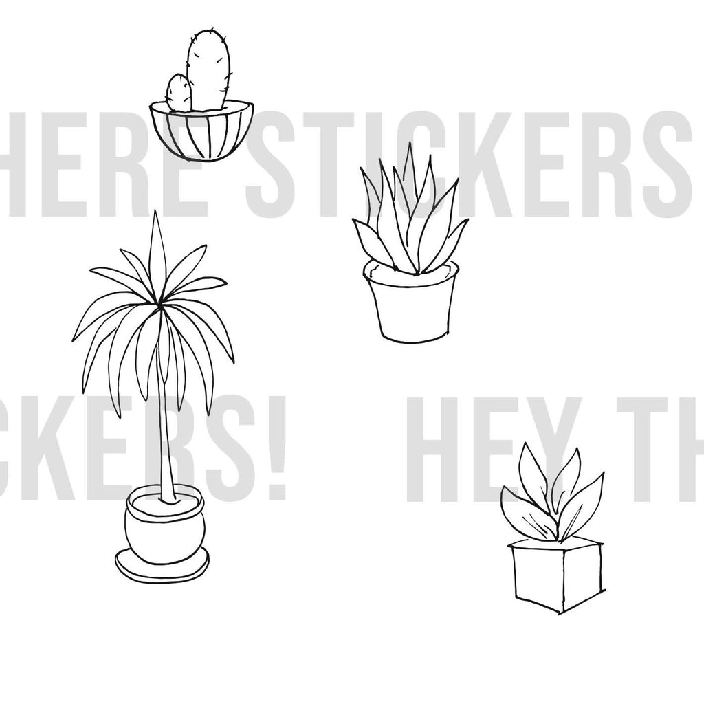 Houseplants Colouring Download