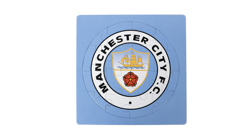 Manchester City crest colour-in jigsaw puzzle