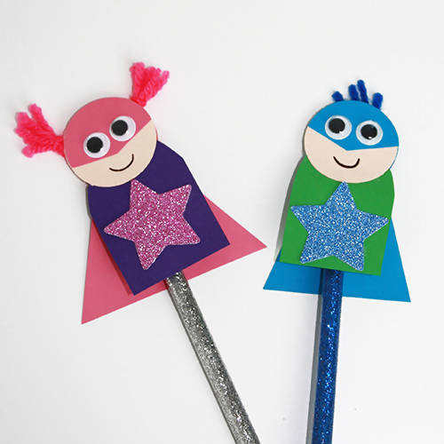 Superhero Pencil Topper Children's Craft Kit