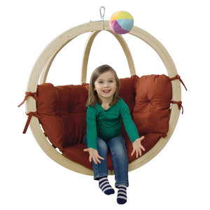 Kid's Globo Terracotta Hanging Chair