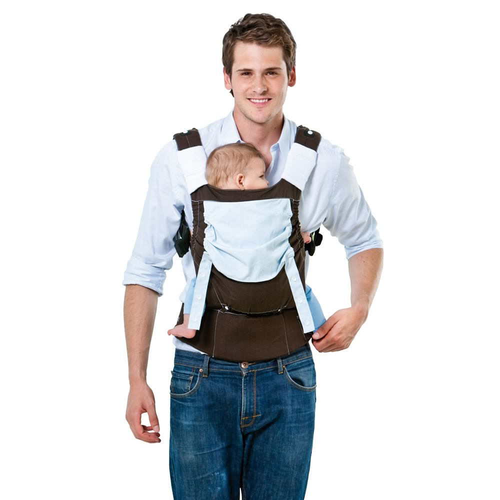 Smart Brown & Blue Earth Baby Carrier