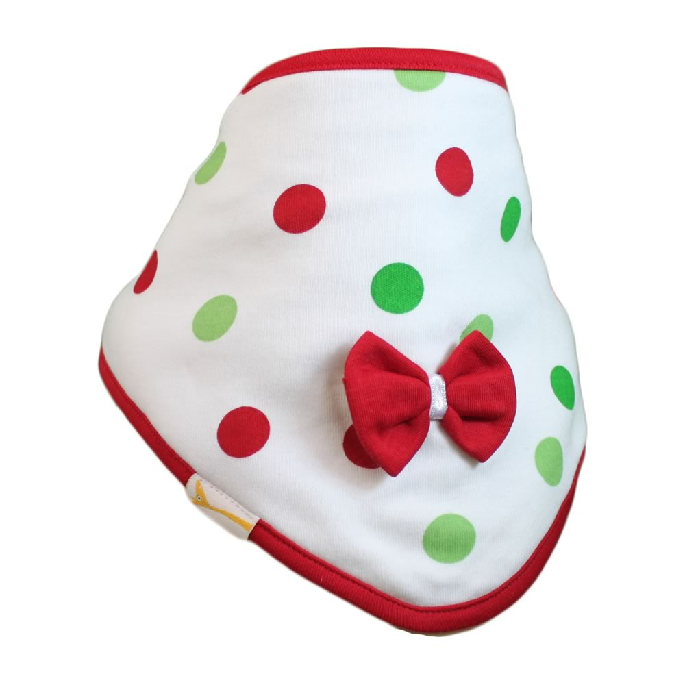 Red & Green Spots Cutie Collar Bandana Bib