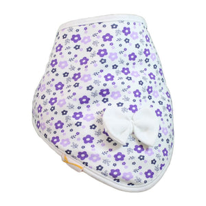 White Purple & Lilac Flowers Cutie Collar Bandana Bib