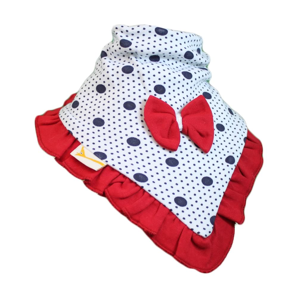 Red & Navy Blue Spots Cutie Collar Bandana Bib