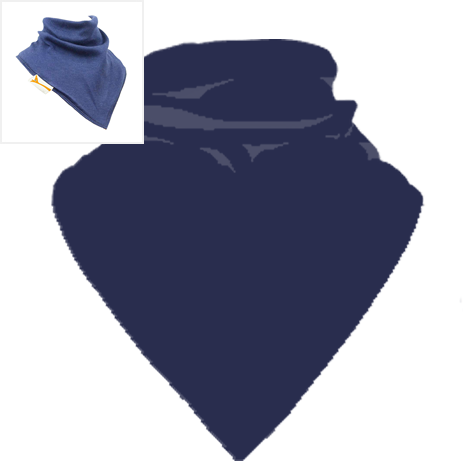 Personalised Navy Blue Plain Bandana Bib