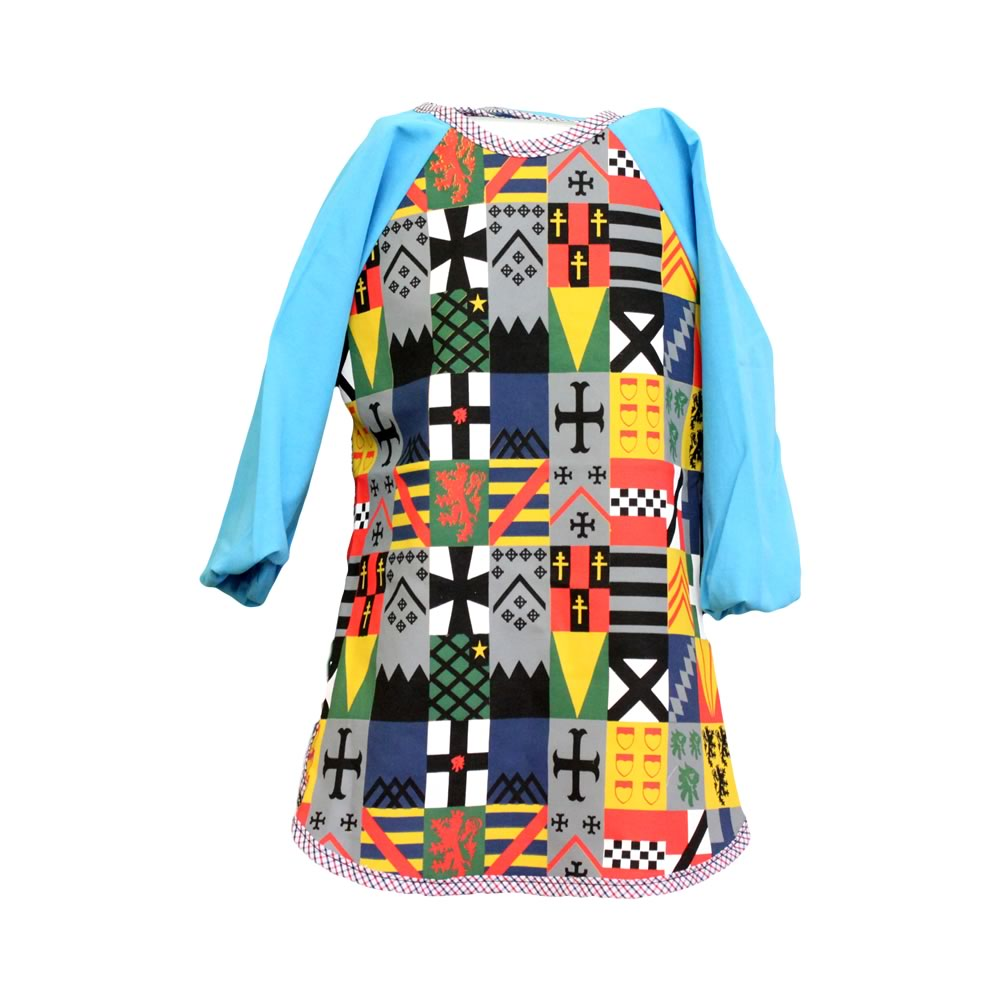 Bright Blue Knights Messy Apron