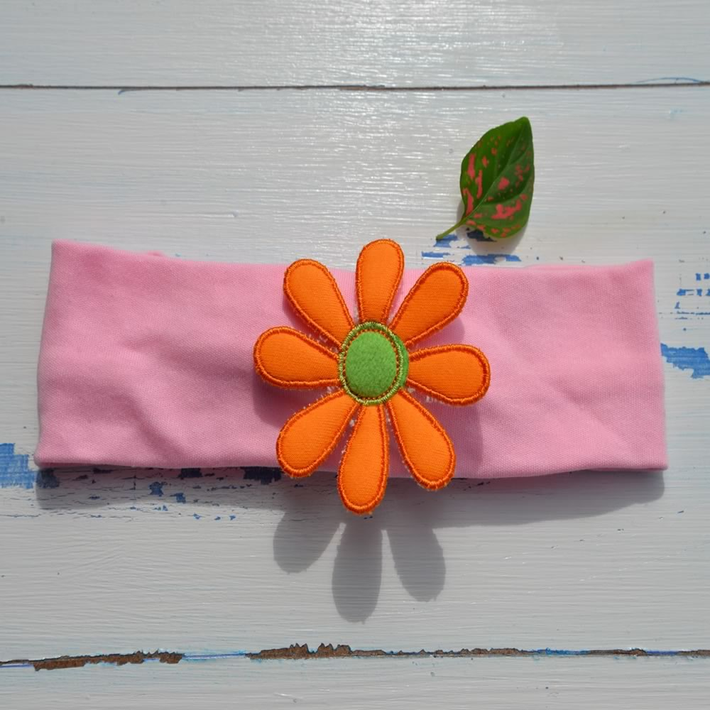 Funky Orange Flower Hairband