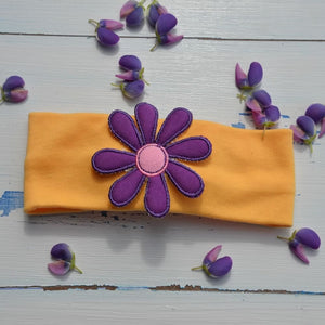 Funky Purple Flower Hairband