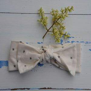 Grey Stars Rabbit Ear Hairband