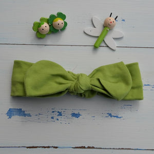 Plain Green Rabbit Ear Hairband
