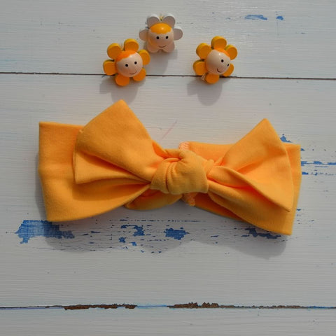 Dark Yellow Rabbit Ear Hairband